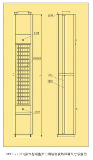 CPCF-Z(C1) Series Side Blowing Steam Heated Air Curtain